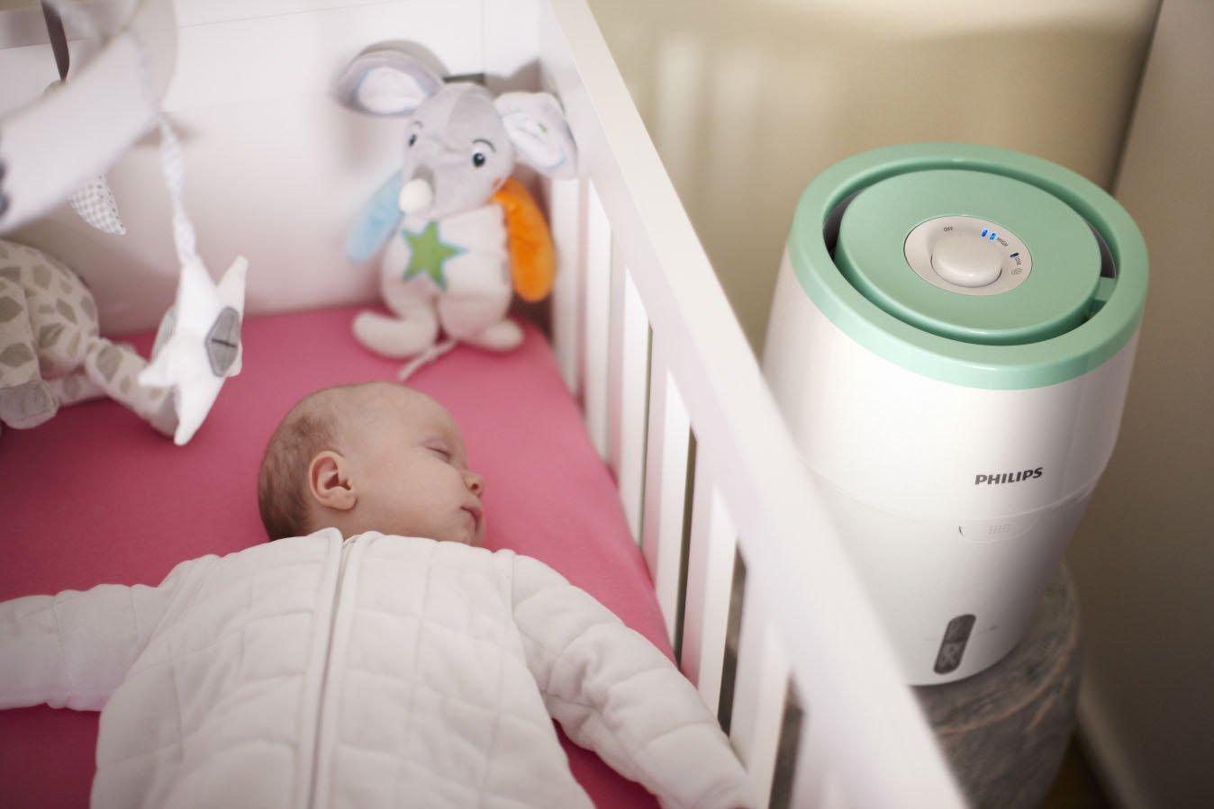Baby und Philips Luftbefeuchter