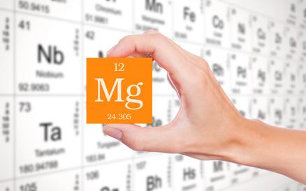 Magnesium Abkürzung hervorgehoben