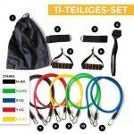 11-teiliges Fitness Widerstandsbänder Set für Home Workout