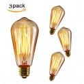 KINGSO 3x E27 40W Edison Lampe Vintage