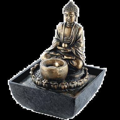 infactory Zimmerbrunnen mit Buddha